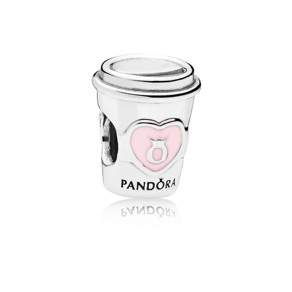 Drink To Go Charm with Pink Enamel - Charm - Pandora Las Vegas Jewelry