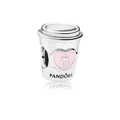 Drink To Go Charm with Pink Enamel - Pandora Jewelry Las Vegas