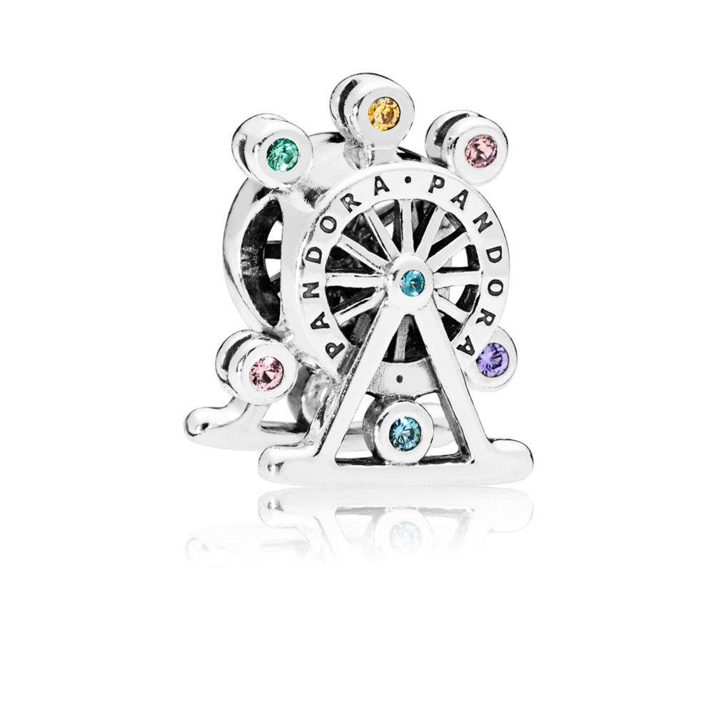 Ferris Wheel Charm, Multi Colored Crystal - Pandora Jewelry Las Vegas