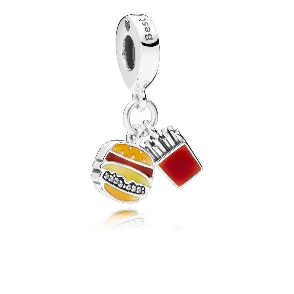 Burger And Fries Dangle Charm - Charm - Pandora Las Vegas Jewelry