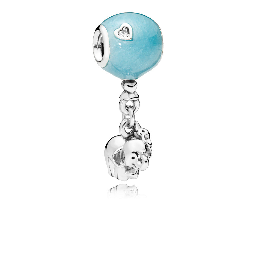 Elephant & Blue Balloon Dangle Charm with Blue Enamel - Pandora Jewelry Las Vegas