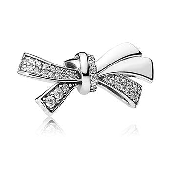 Brilliant Bow Charm - Pandora Jewelry Las Vegas