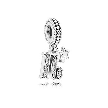 16 Years Of Love Dangle Charm - Pandora Jewelry Las Vegas