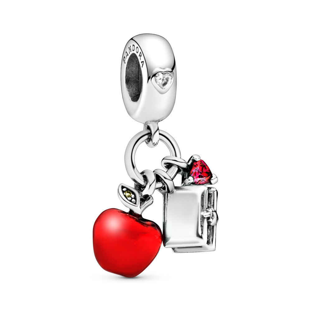 Disney Snow White's Apple & Heart Dangle Charm with Enamel - Charm - Pandora Las Vegas Jewelry