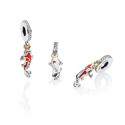 Good Fortune Carp Dangle Charm with Pandora Shine - Pandora Jewelry Las Vegas