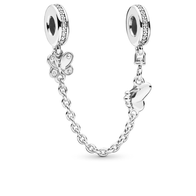 Decorative Butterfly Safety Chain with Clear CZ - Charm - Pandora Las Vegas Jewelry