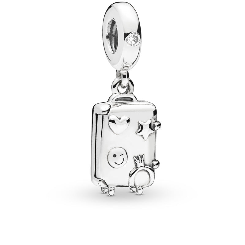 Suitcase Dangle Charm with Pink Enamel - Pandora Jewelry Las Vegas