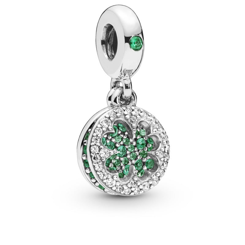 Dazzling Clover Dangle Charm - Pandora Jewelry Las Vegas