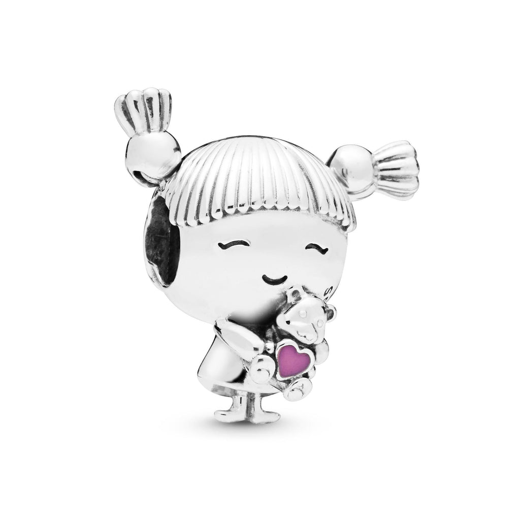 Girl with Pigtails Charm - Pandora Jewelry Las Vegas