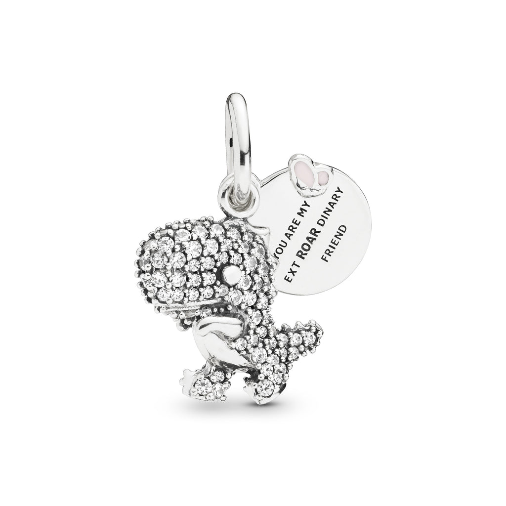 Pavé Dinosaur Dangle Charm - Pandora Jewelry Las Vegas