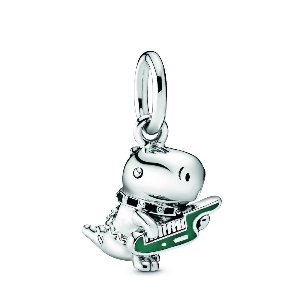 Dino the Dinosaur Punk Band Dangle Charm