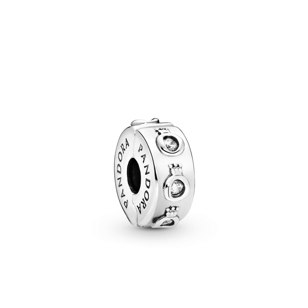 Sparkling Crown O Clip Charm with Clear CZ - Pandora Jewelry Las Vegas