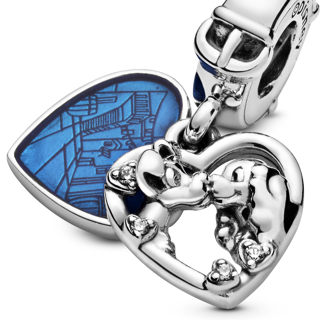 Disney Lady and the Tramp Heart Dangle Charm - Pandora Jewelry Las Vegas