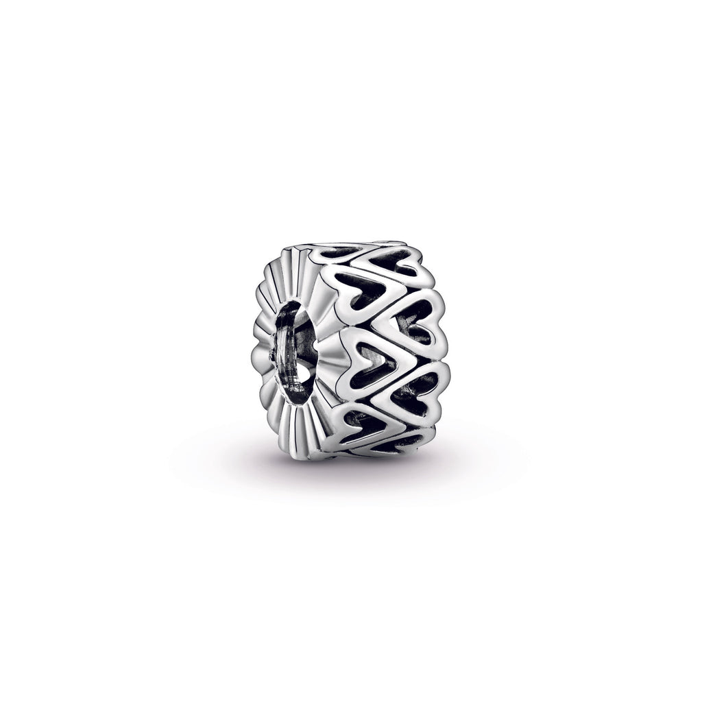 Openwork Freehand Heart Spacer Charm - Pandora Jewelry Las Vegas