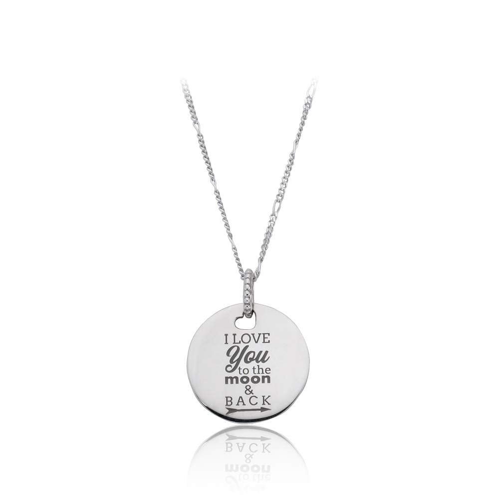 I Love You to the Moon & Back Pendant Necklace - Pandora Jewelry Las Vegas