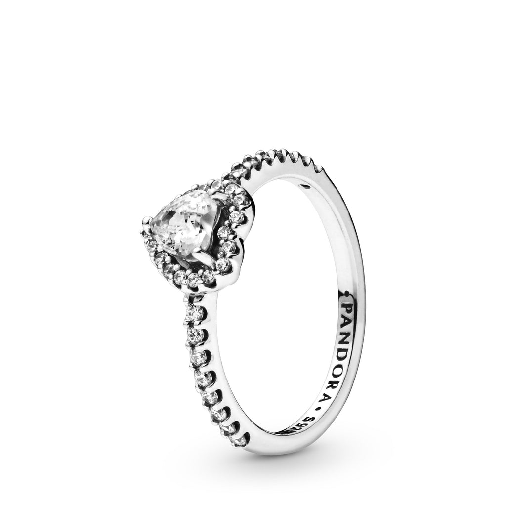 Elevated Heart, Clear CZ Ring - Pandora Jewelry Las Vegas