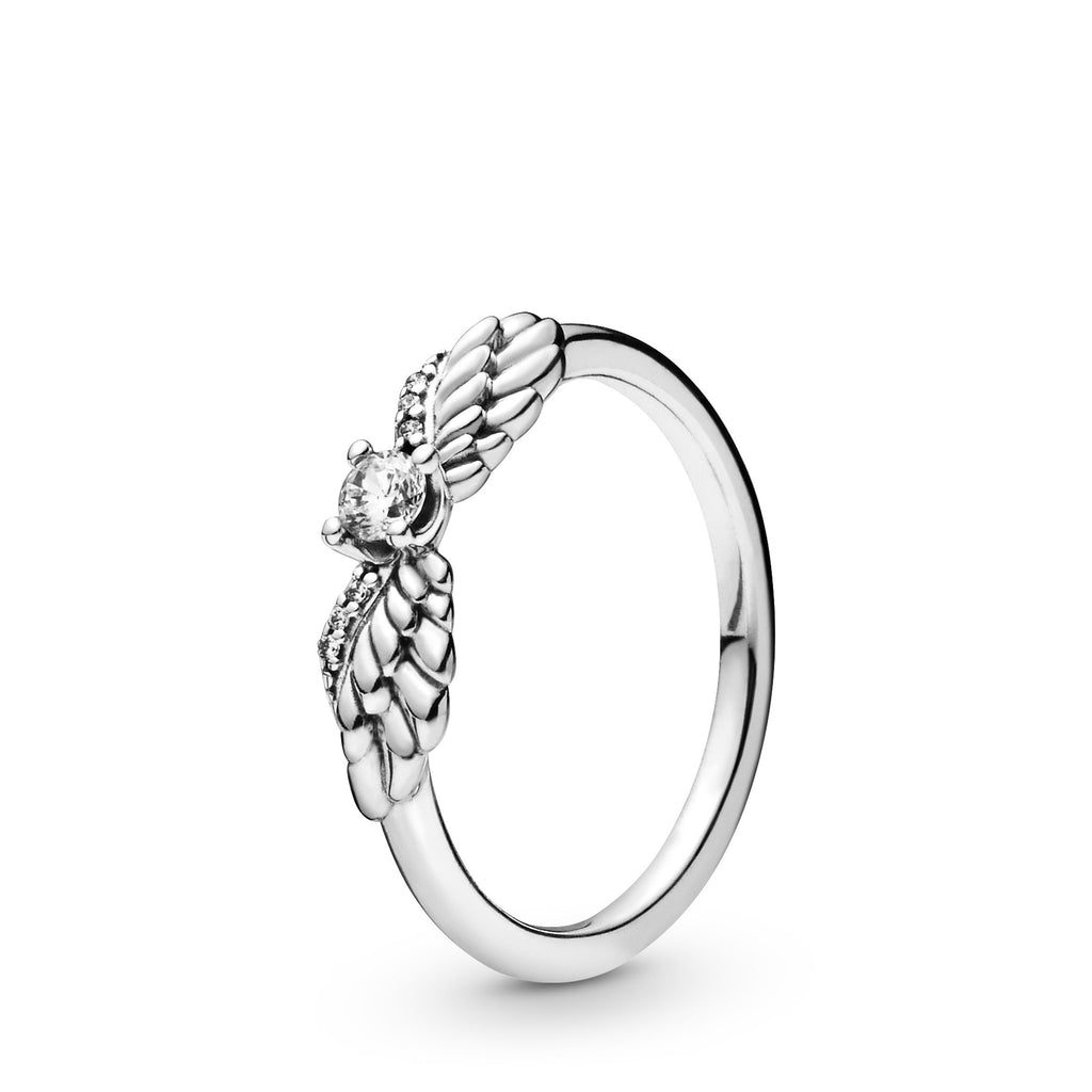 Sparkling Angel Wing, Clear CZ Ring - Pandora Jewelry Las Vegas