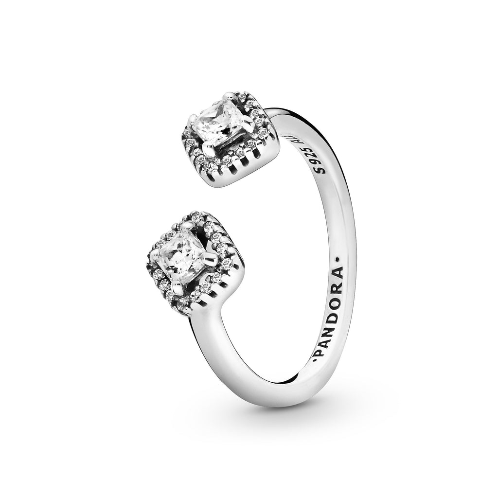 Square Sparkle, Clear CZ Ring - Pandora Jewelry Las Vegas