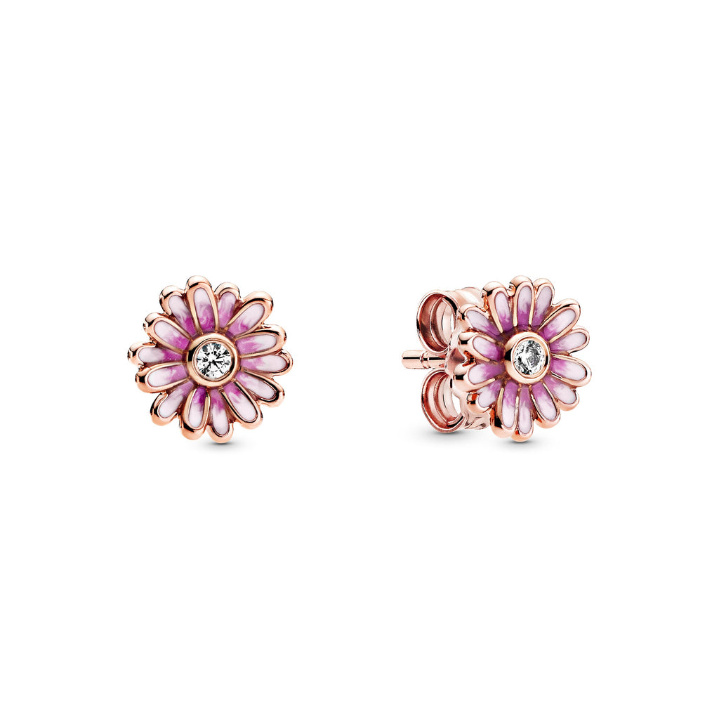 Pink Daisy Flower Stud Earrings - Pandora Jewelry Las Vegas