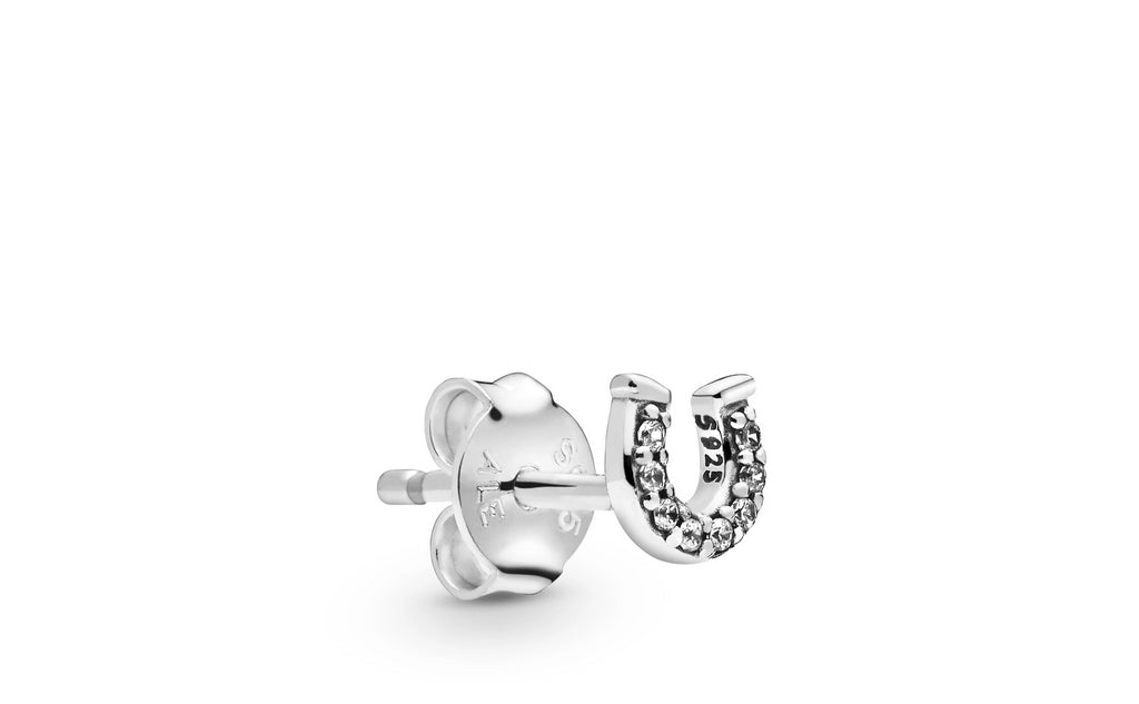 My Lucky Horseshoe Single Stud Earring - Pandora Jewelry Las Vegas