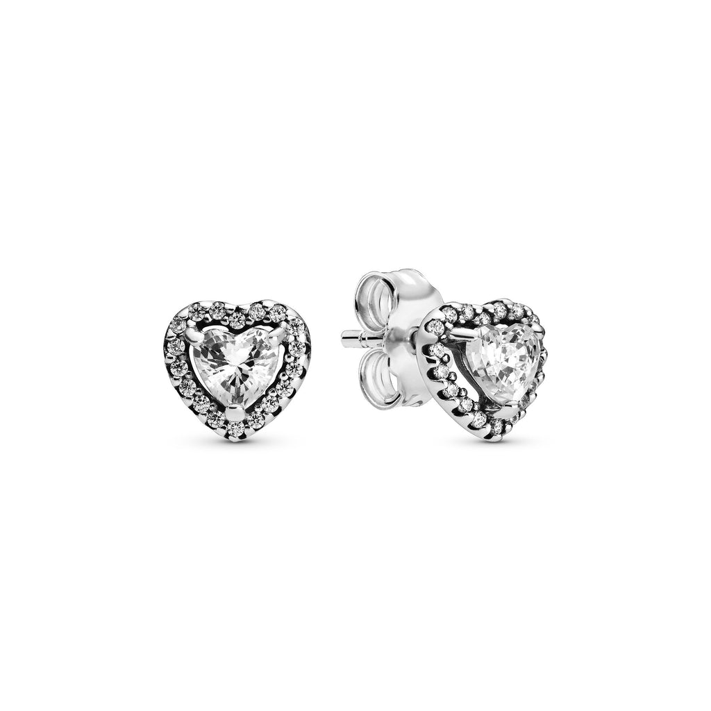 Elevated Heart, Clear CZ Earring - Pandora Jewelry Las Vegas