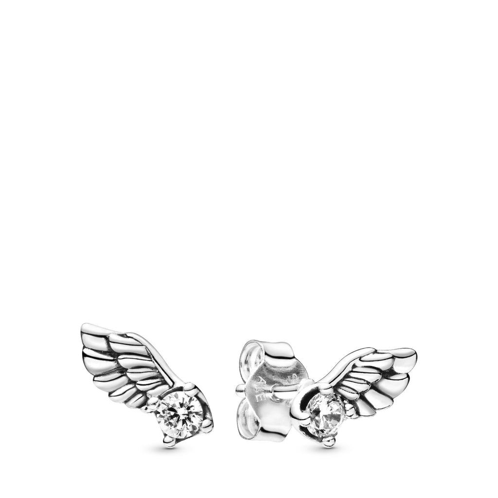 Sparkling Angel Wing, Clear CZ Earring - Pandora Jewelry Las Vegas