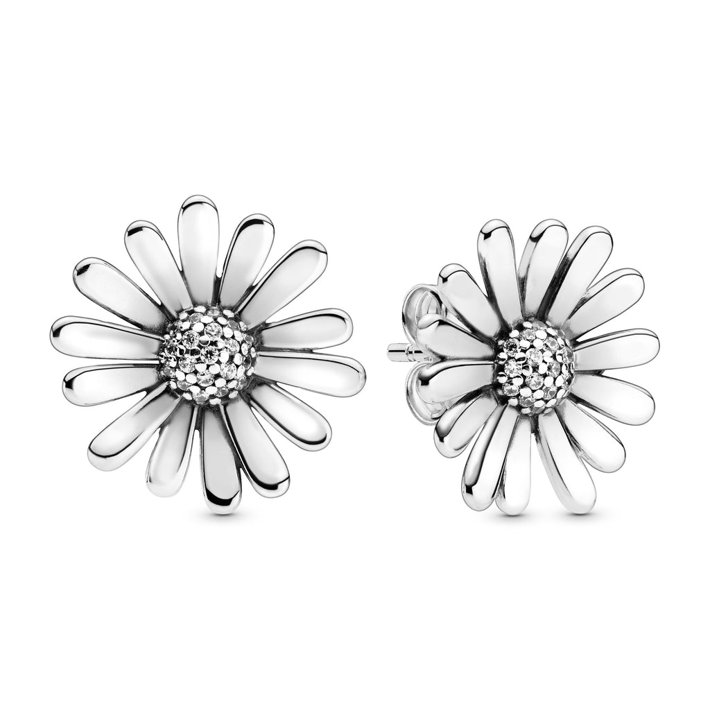 Pavé Daisy Flower Statement Stud Earrings - Pandora Jewelry Las Vegas