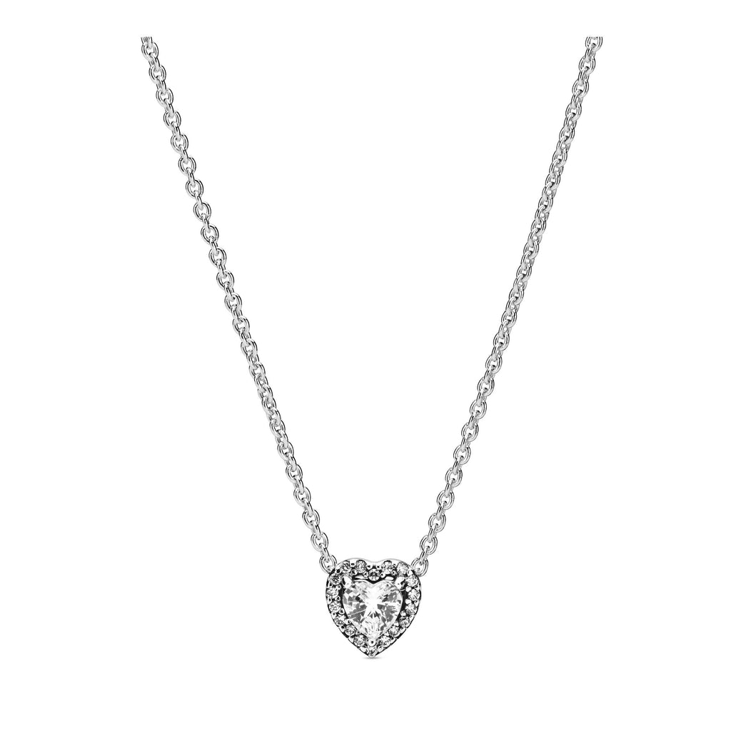Elevated Heart, Clear CZ Necklace - Pandora Jewelry Las Vegas
