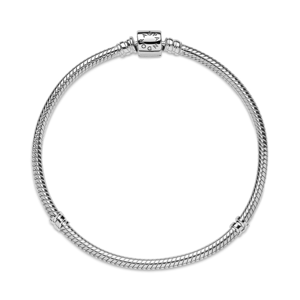 Pandora Moments Barrel Clasp Snake Chain Bracelet - Pandora Jewelry Las Vegas
