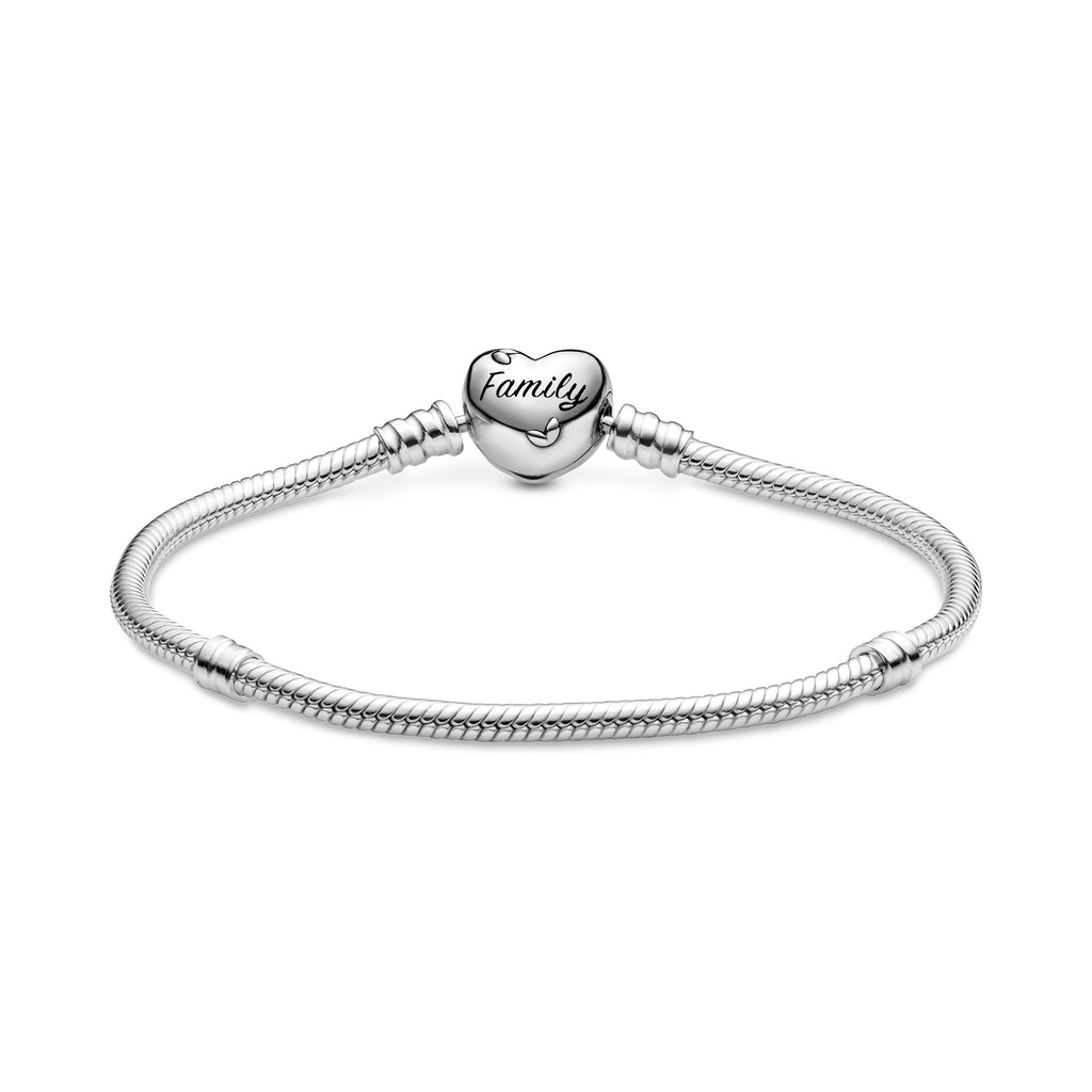 Pandora Moments Family Tree Heart Clasp Snake Chain Bracelet - Pandora Jewelry Las Vegas