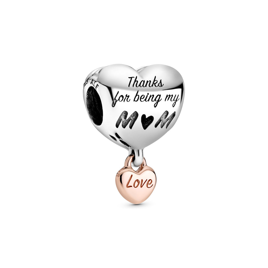 Love You Mom Heart Charm - Pandora Jewelry Las Vegas