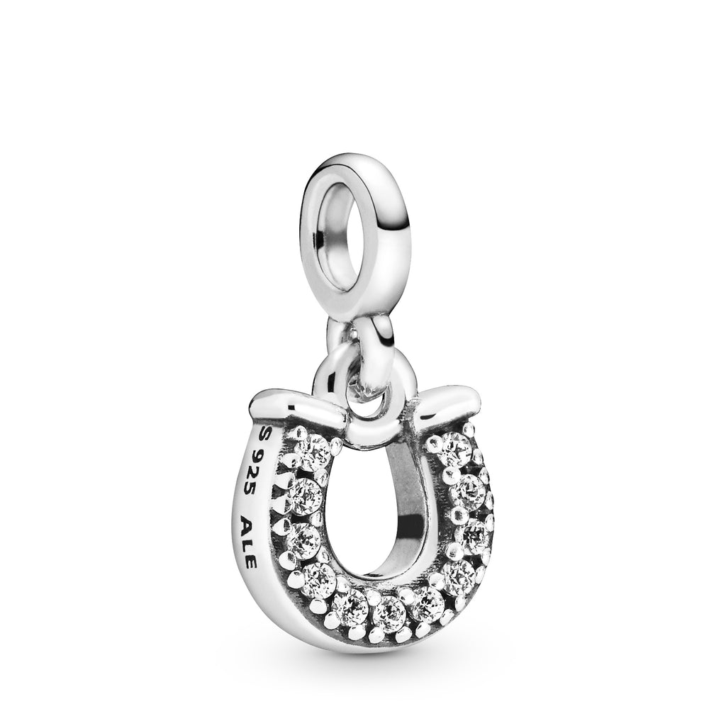 My Lucky Horseshoe Dangle Charm- Pandora Me Collection - Pandora Jewelry Las Vegas