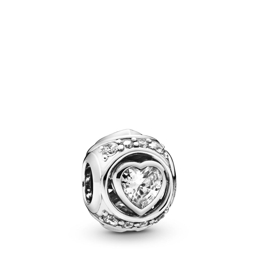 Elevated Heart, Clear CZ Charm - Pandora Jewelry Las Vegas