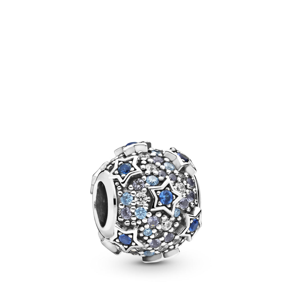 Elevated Stars Pavé, Blue & Clear CZ Charm - Pandora Jewelry Las Vegas