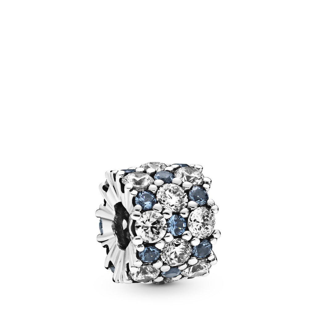 Blue & Clear Sparkle, Blue Crystal & Clear CZ Charm - Pandora Jewelry Las Vegas