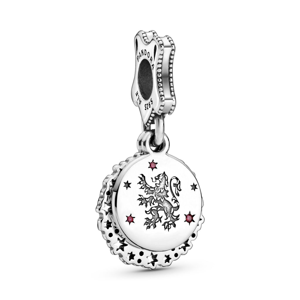 Gryffindor Sterling Silver Dangle With Red Cubic Zirconia Charm - Pandora Jewelry Las Vegas