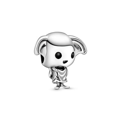 Dobby The House Elf Sterling Silver With Black And White Enamel Charm - Pandora Jewelry Las Vegas