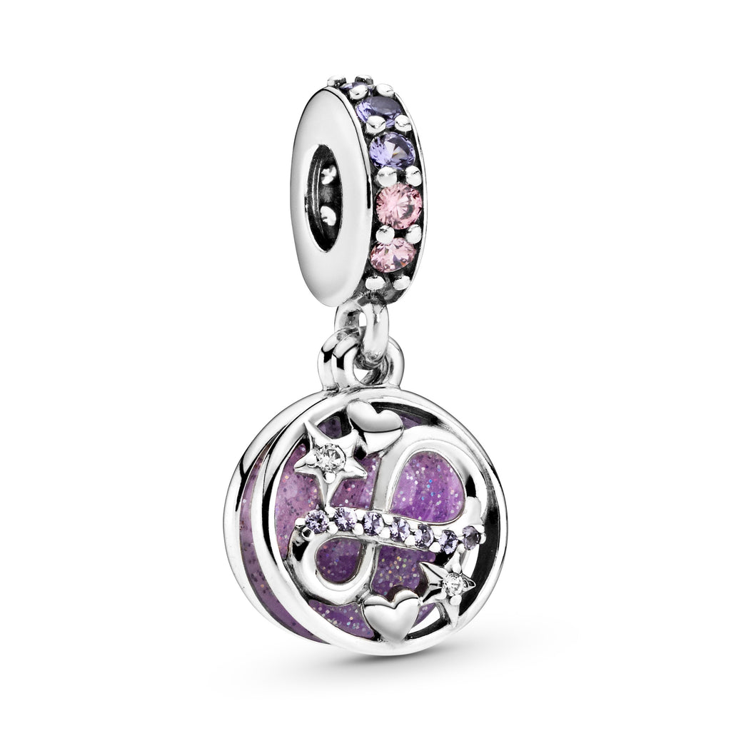 Glittering Infinity Hearts & Stars Dangle Charm - Pandora Jewelry Las Vegas