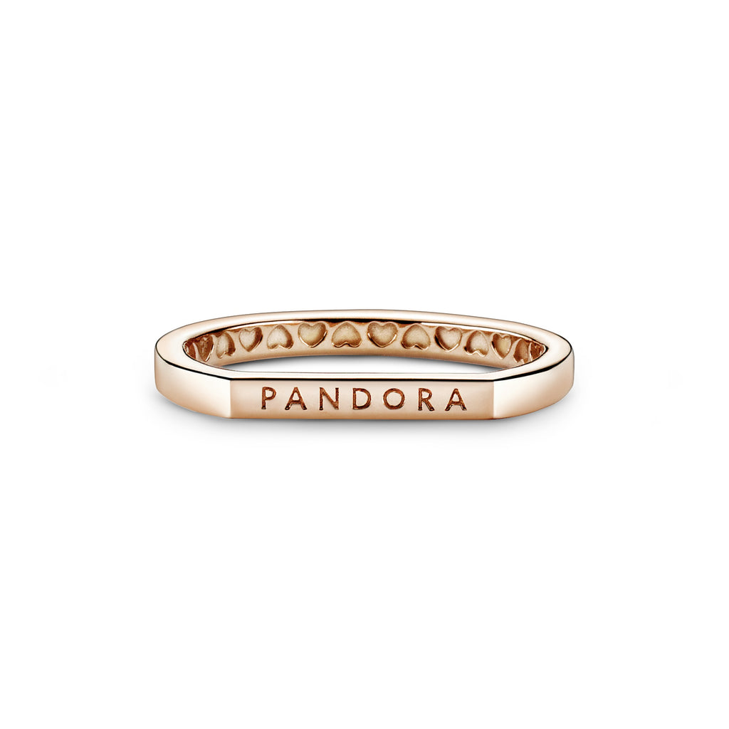 Logo Bar Stacking Ring Pandora Rose™