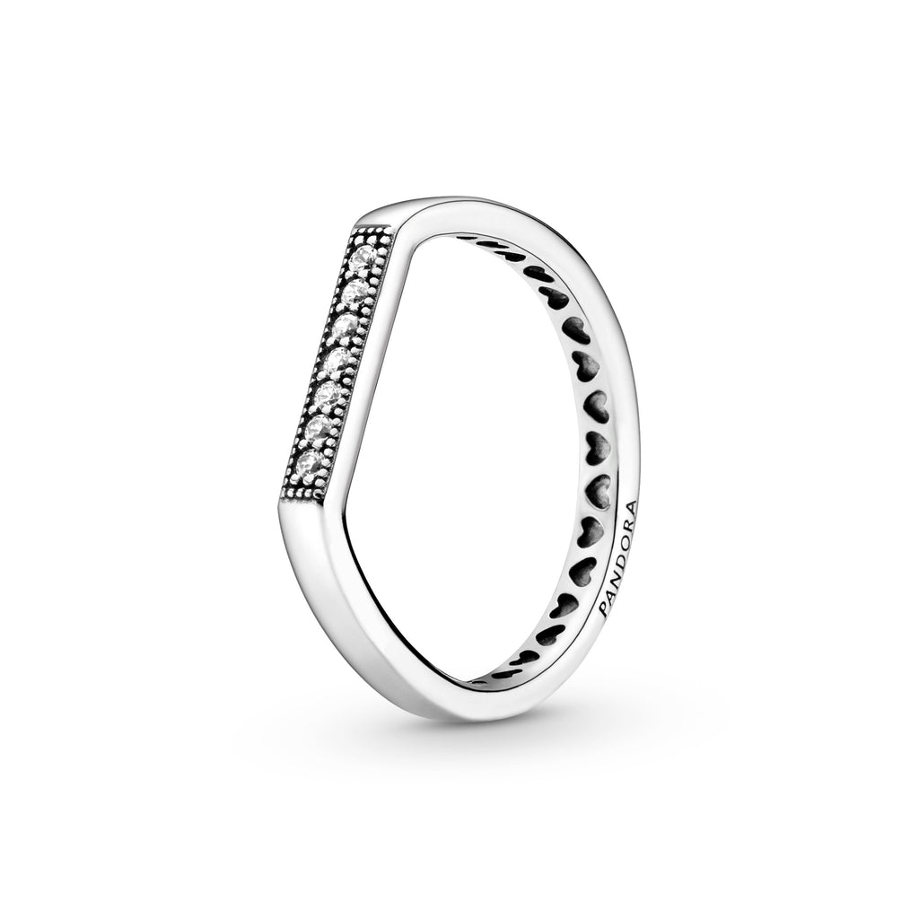 Logo Bar CZ Ring