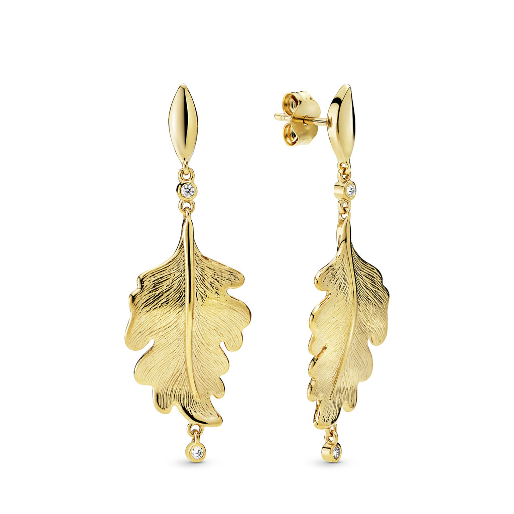 Oak Leaf Pandora Shine Earrings - Earring - Pandora Las Vegas Jewelry