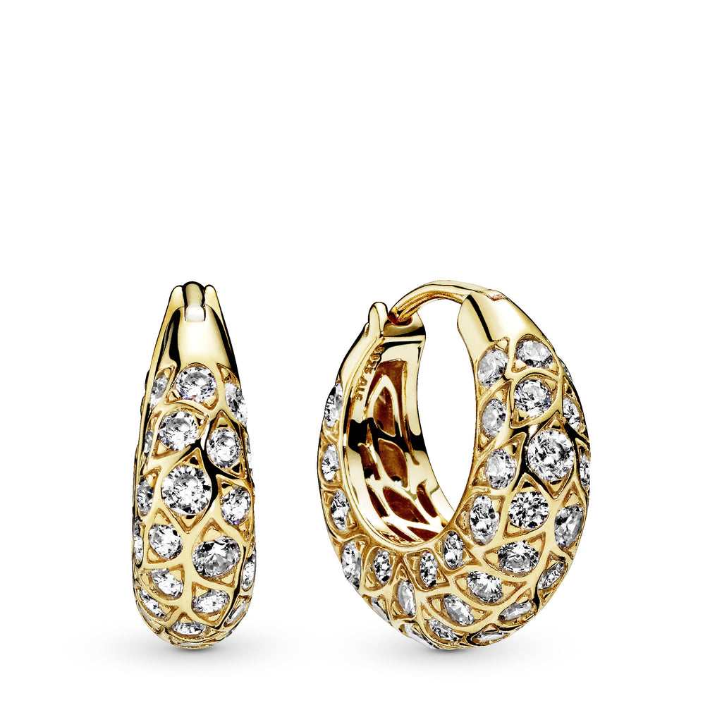 Sparkling Pattern Pandora Shine Hoop Earrings - Pandora Jewelry Las Vegas