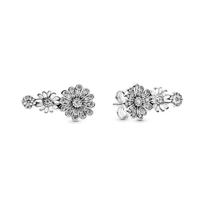 Sparkling Daisy Flower Trio Stud Earrings - Pandora Jewelry Las Vegas