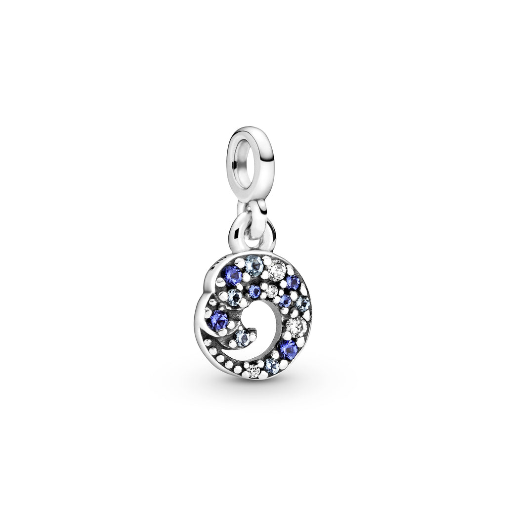 My Blue Ocean Wave Dangle Charm Pandora Me Collection