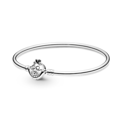 Pandora Disney Alice in Wonderland Cheshire Cat Bangle Bracelet in Sterling Silver- Style #599343C00