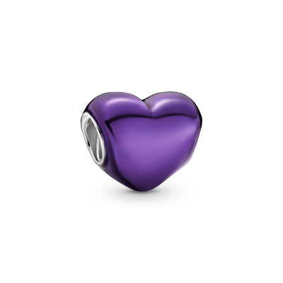 Pandora Metallic Purple Heart Charm