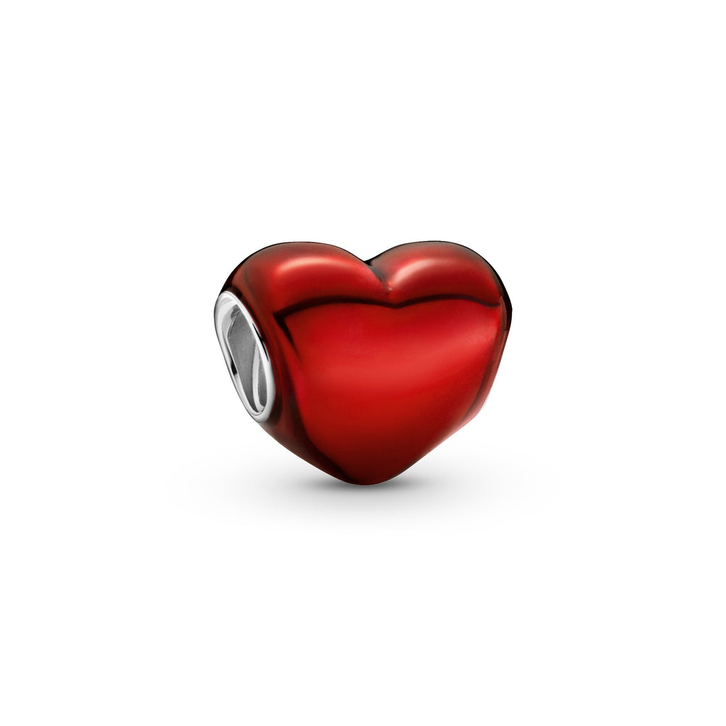 Pandora Metallic Red Heart Charm