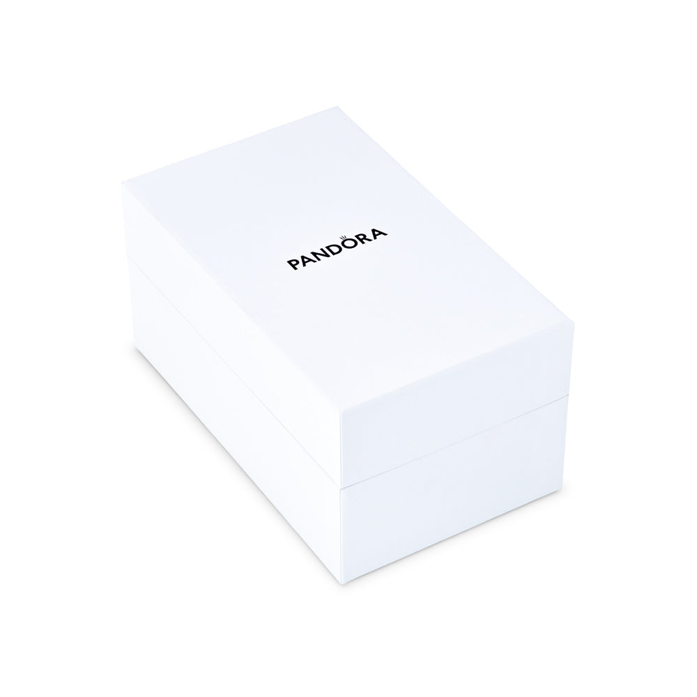 White Collectible Pandora Gift Box for Limited Edition Holiday Ornament Gift Set.