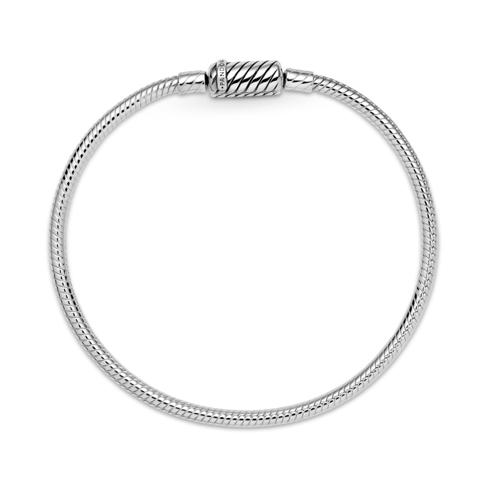 Pandora moments sliding magnetic clasp snake chain bracelet in sterling silver