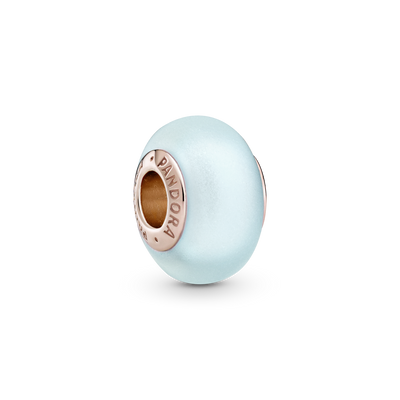 Pandora Rose Matte Blue Murano Glass Charm.